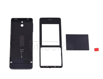 Full Housing Cover (Front Cover + Battery Back Cover) for Nokia 515(Black)