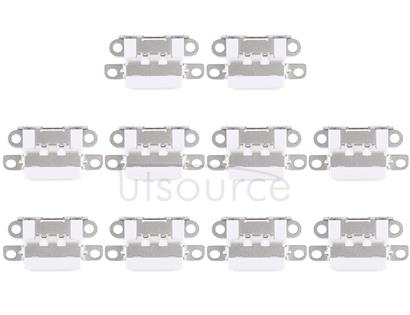 10 PCS Charging Port Connector for iPhone 6 Plus(White)