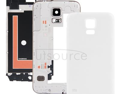 Full Housing Faceplate Cover  for Galaxy S5 / G900(White)