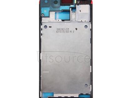 Full Housing Cover (Front Housing LCD Frame Bezel Plate + Back Cover) for HTC One M7 / 801e(Red)