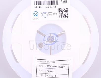 CCTC TCC0805C0G820J500BT