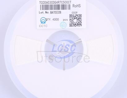 CCTC(三环) TCC0603C0G4R7C500CT