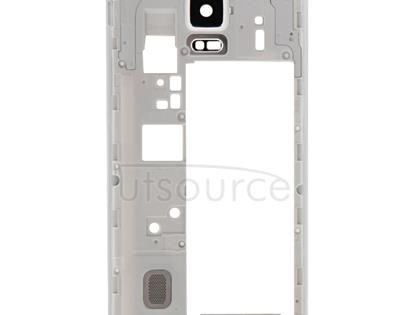 Middle Frame Bazel Back Plate Housing Camera Lens Panel  for Galaxy Note 4 / N910F(White)