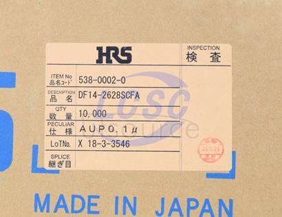 Hirose/HRS DF14-2628SCFA