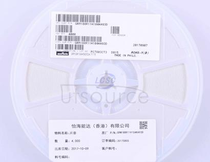 Murata Electronics GRM188R11H104KA93D
