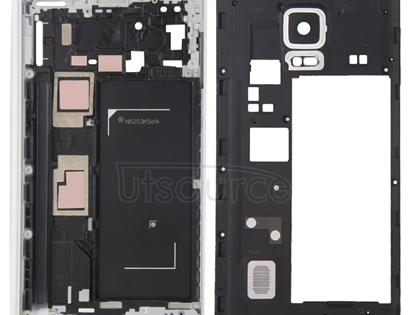Full Housing Cover (Front Housing LCD Frame Bezel Plate + Middle Frame Bezel ) for Galaxy Note Edge / N915(White)