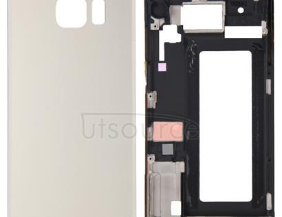 Full Housing Cover (Front Housing LCD Frame Bezel Plate + Battery Back Cover ) for Galaxy S6 Edge / G925(Gold)