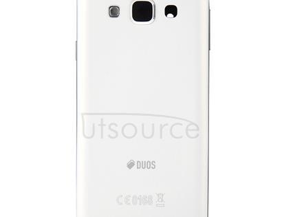 Full Housing Cover (Front Housing LCD Frame Bezel Plate + Rear Housing Battery Back Cover ) for Galaxy E5 / E500(White)
