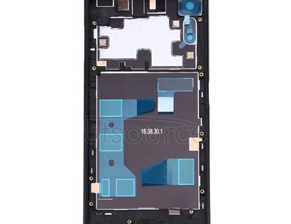 Back Battery Cover + Back Battery Bottom Cover + Middle Frame for Sony Xperia XZ (Black)