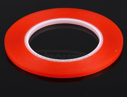 5mm width 3M Double Sided Adhesive Sticker Tape for iPhone / Samsung / HTC Mobile Phone Touch Panel Repair, Length: 25m(Red)