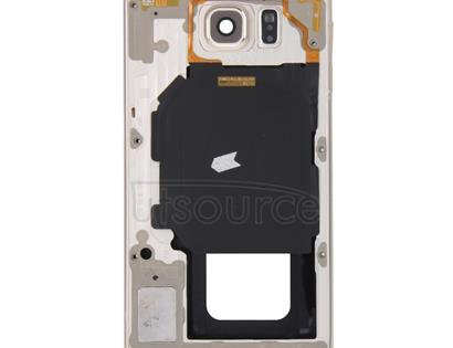 Full Housing Cover (Front Housing LCD Frame Bezel Plate + Back Plate Housing Camera Lens Panel ) for Galaxy S6 / G920F(Gold)