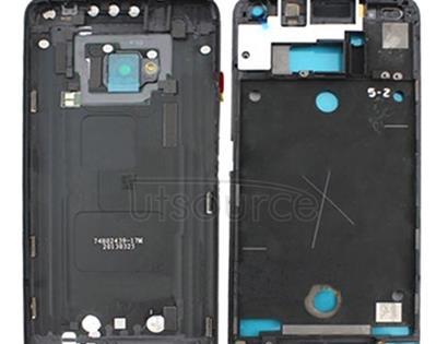Full Housing Cover (Front Housing LCD Frame Bezel Plate + Back Cover) for HTC One M7 / 801e(Black)