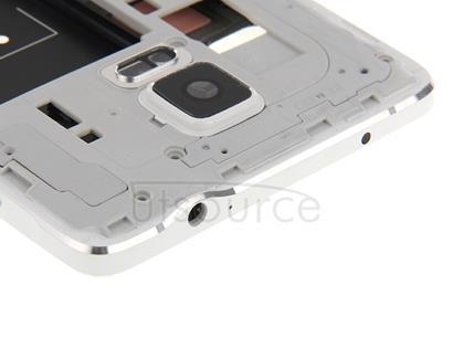 Full Housing Cover (Front Housing LCD Frame Bezel Plate + Middle Frame Bazel Back Plate Housing Camera Lens Panel ) for Galaxy Note 4 / N910V(White)