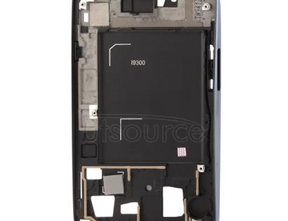 2 in 1 for Galaxy S III / i9300 (Original LCD Middle Board + Original Front Chassis)(Dark Blue)
