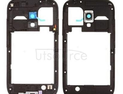 Middle Frame Bazel Back Plate Housing Camera Lens Panel for Galaxy SIII mini / i8190(Black)
