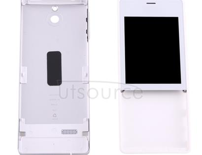Full Housing Cover (Front Cover + Battery Back Cover) for Nokia 515(Silver)