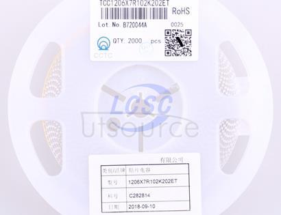 CCTC TCC1206X7R102K202ET