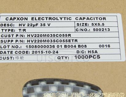 Capxon International Elec HV220M035C055ETR
