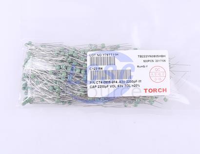 TORCH 2.2nF(222) ±20% 63V