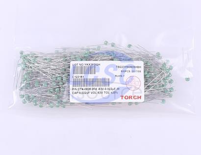 TORCH 22nF(223) ±20% 63V