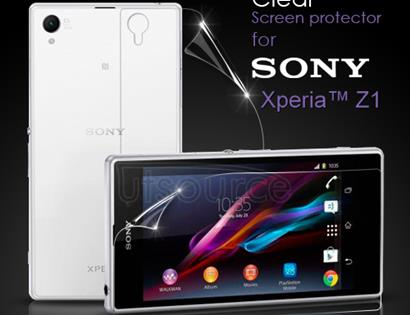 Front and Back Clear Screen Protector for Sony Xperia Z1