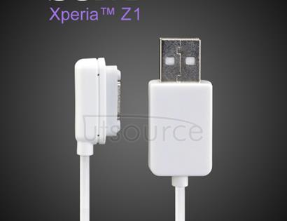 Custom Magnetic Charging Cable for Sony Xperia Z1 White