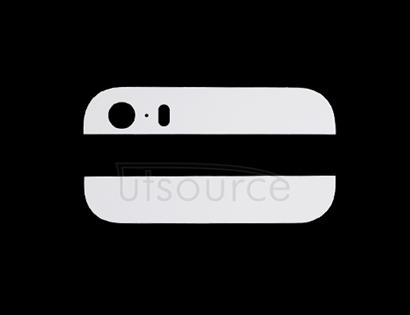 OEM Top and Bottom Back Glass for iPhone 5S White