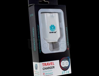 4 USB Ports Travel Charger for Sony Xperia Z1 US