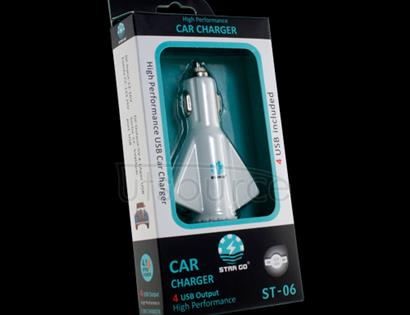 StarGo 4 USB Ports Car Charger White
