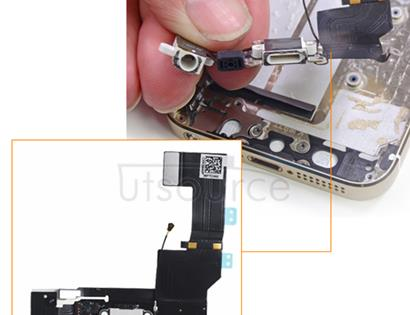 OEM Dock Connector Assembly for iPhone 5S White