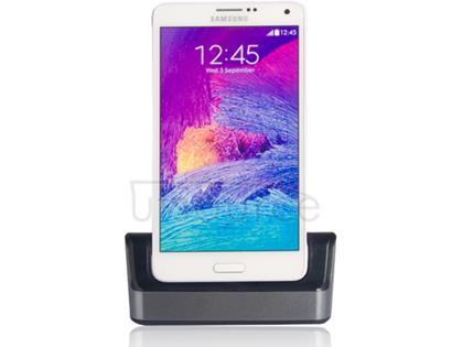 USB Sync Cradle Desktop Dock Charger for Samsung Galaxy Note 4 Silver