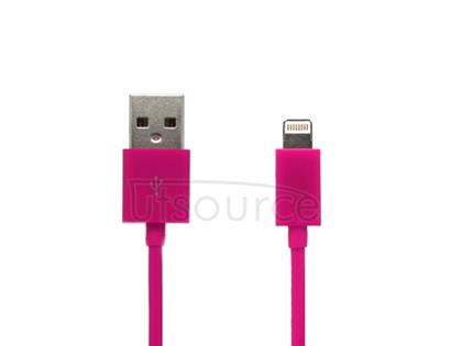USB Data Cable for iPhone/iPad/iPod Magenta