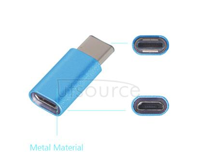 Metal USB Type-C to Micro USB Adapter for OnePlus Two Blue
