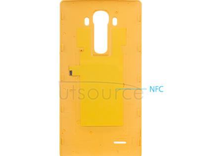 Custom Leather Battery Cover for LG G4 Yellow