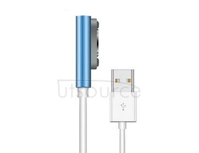 LED Flashlight Magnetic Charging Cable for Sony Xperia Z3 Blue