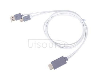 USB Tape-C to HDMI Cable for OnePlus Two White