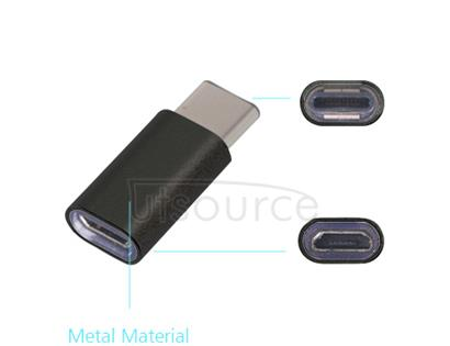 Metal USB Type-C to Micro USB Adapter for OnePlus Two Black