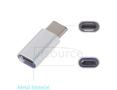 Metal USB Type-C to Micro USB Adapter for OnePlus Two Silver