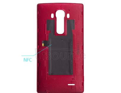 OEM Leather Back Cover for LG G4 Wine