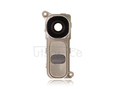 Custom Camera Lens + Power Button + Volume Button for LG G4 Gold