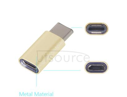 Metal USB Type-C to Micro USB Adapter for OnePlus Two Gold