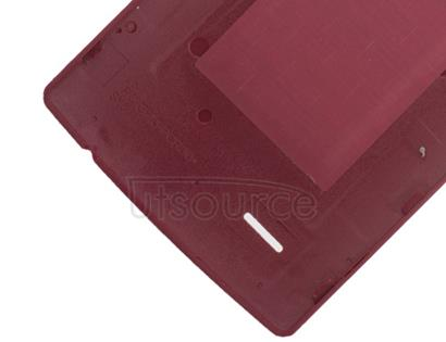 Custom Back Cover for LG G4 Red Leather
