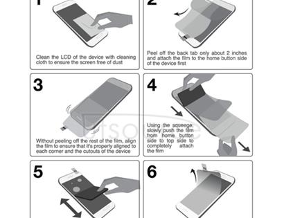 Clear Front LCD Screen Protector for Sony Xperia Z1 Compact