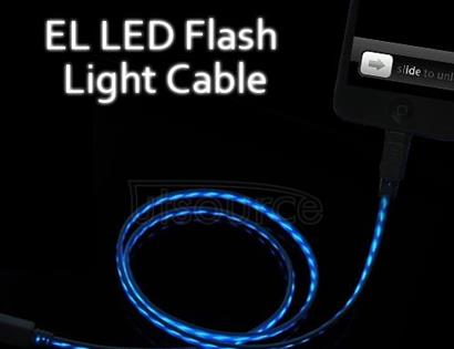 EL Visible luminous LED Light USB Charger Cable for iPhone/iPad/iPod Black