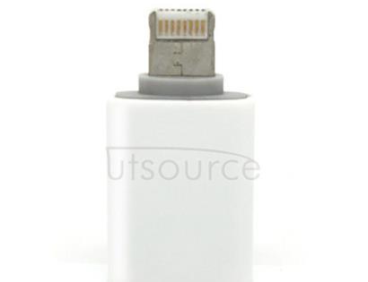 8 pin Male to Micro USB 5 pin Female Adapter for iPhone/iPad /iPod
