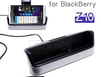2 in 1 Desktop Dock Station Cradle with Battery Slot Charger for BlackBerry Z10 Silver