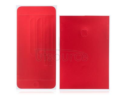 Full Front Screen Protector + Back Skin Sticker Set for iPhone 6 Plus/6S Plus Red