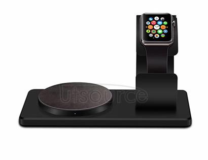 For iWatch Wireless Charger with Supporting Frame Black