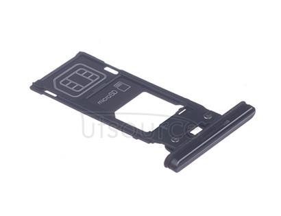 OEM SIM Card Tray + SIM Cover Flap for Sony Xperia XZ2 Premium Chrome Black