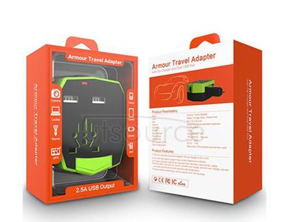 Universal Armour Travel Adapter Green